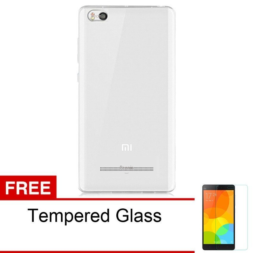 Peonia Xiaomi MI4i Aircase Ultrathin - Clear + Bonus Tempered Glass