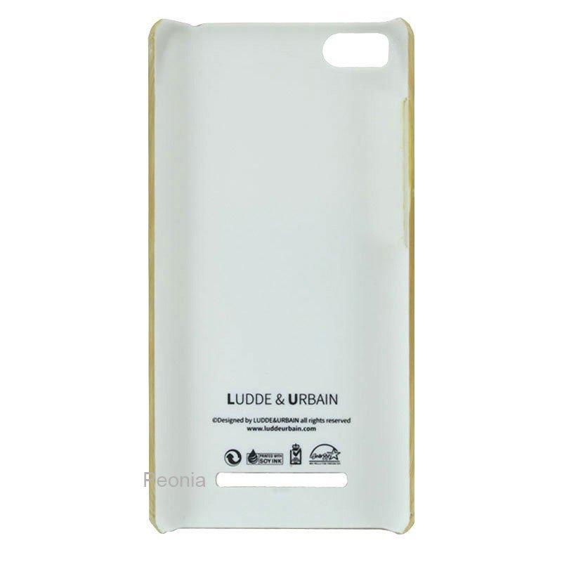 Peonia Xiaomi MI4i / Mi4c Hardcase Ludde&Urbain Series Bamboo 3D Print - Coklat + Bonus Screenguard