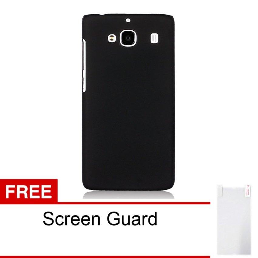 Peonia Xiaomi Redmi 2S Hardcase - Hitam + Free Screenguard