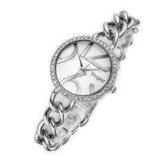 Perfect Genuine YAQIN Yaqin Watch Female Models 7194 Women's Fashion Watch Fashion Bracelet Watch Girls (Silver) . - Intl