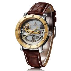 Perfect IK Apa Qi Automatic Mechanical Watch Double-sided Hollow Steel Tide Male Table 50 Meters Waterproof Watch 98393G (Dark Brown) - Intl
