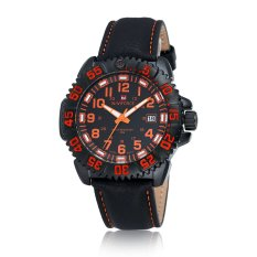 Perfect NAVIFORCE9041 Cool Fashion Calendar Watches Men's Belt Leisure Table (Red) - Intl