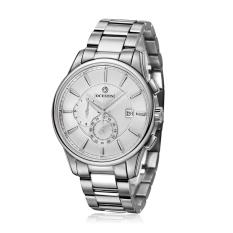 Perfect OCHSTIN Authentic Brand Swiss Watches Men's Watches Waterproof High-grade Steel Belt Male Table Calendar (Whtite) - Intl