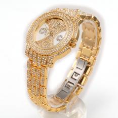Perfect When HEMNEZ Authentic Korean Fashionable Hanmei Diamond Watch Fashion Jewelry Watches (Gold) - Intl