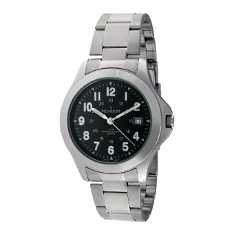 Peugeot Mens 24 Hour Army Military Stainless Steel Bracelet Watch Ideal For Expedition 1017M (Intl)