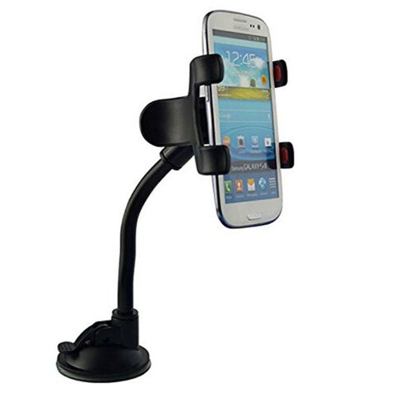 Phone Stand Cradle Car Windshield Dashboard Holder for Xiaomi Mi4 Mi4C Mi4i Redmi 2 Note2/3 (Black) (Intl)