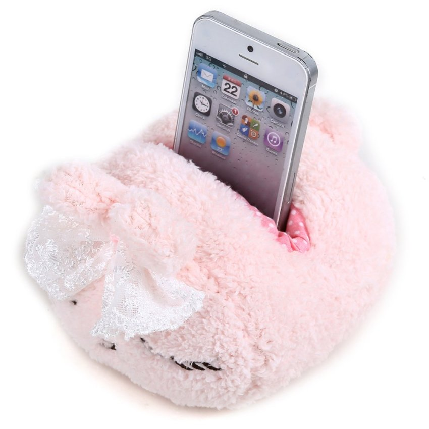 Pink Bunny plush mobile phone holder (Intl)
