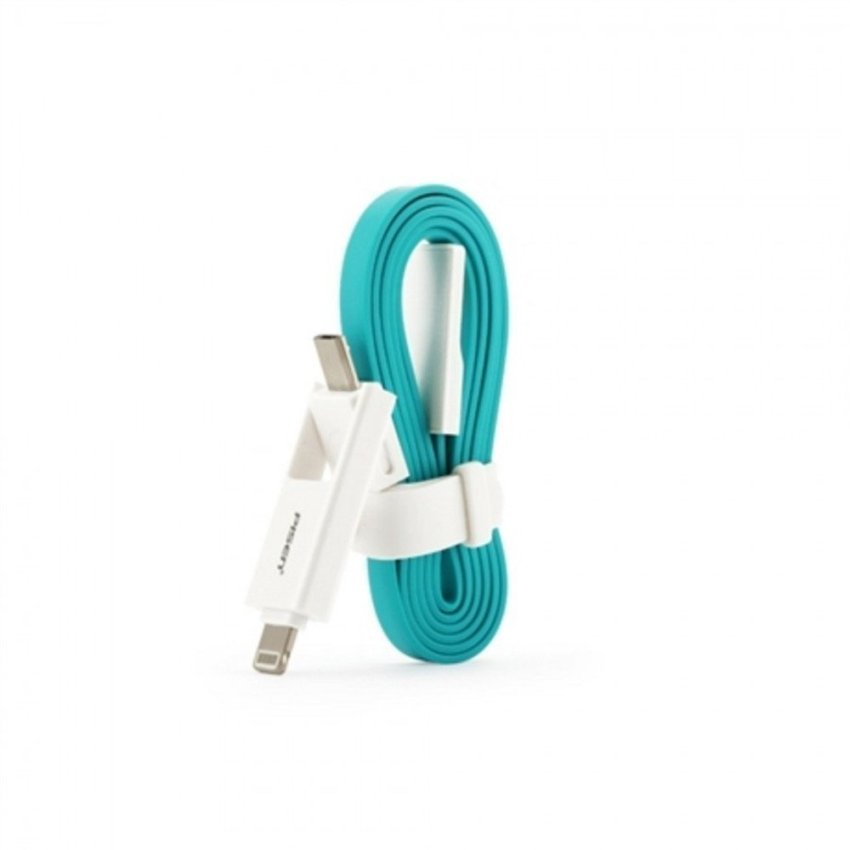 Pisen 800mm Tangle-Free Noodle Style Micro USB Cable (Blue) (Intl)
