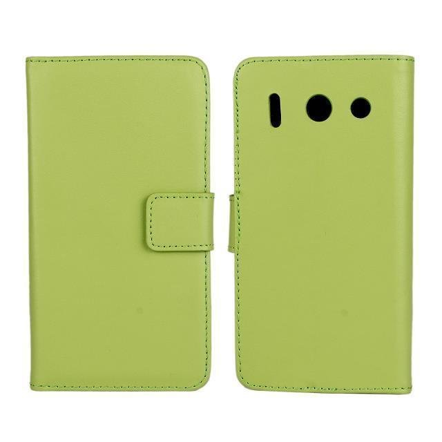Plain Leather Purse Holster Cover for Huawei G510 (Green)