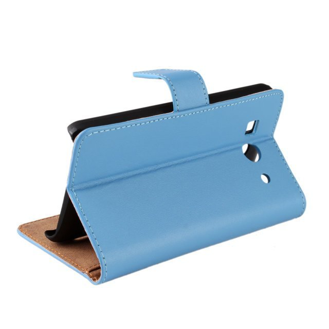 Plain Leather Purse Holster Cover for Huawei G520/G525 (Blue)