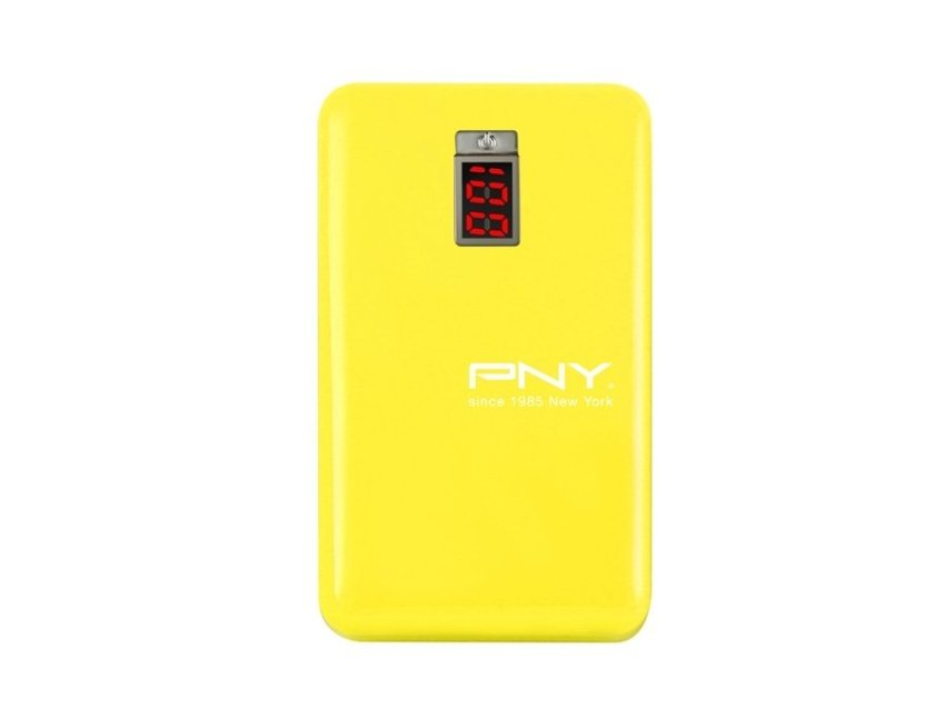PNY PowerBank 5100mAh Digital - Kuning