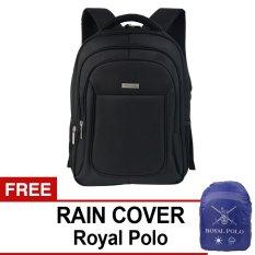 Polo Club 9187 Backpack - Hitam + Gratis Rain Cover Royal Polo