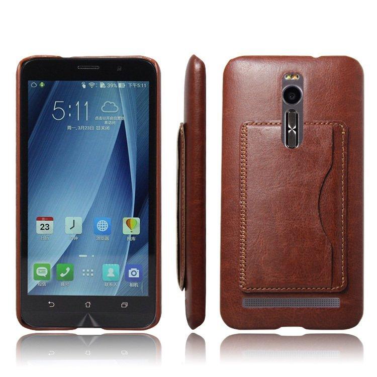 Popsky Phone Case for ASUS ZenFone 2 ZE550ml / Ze551ml (Brown)