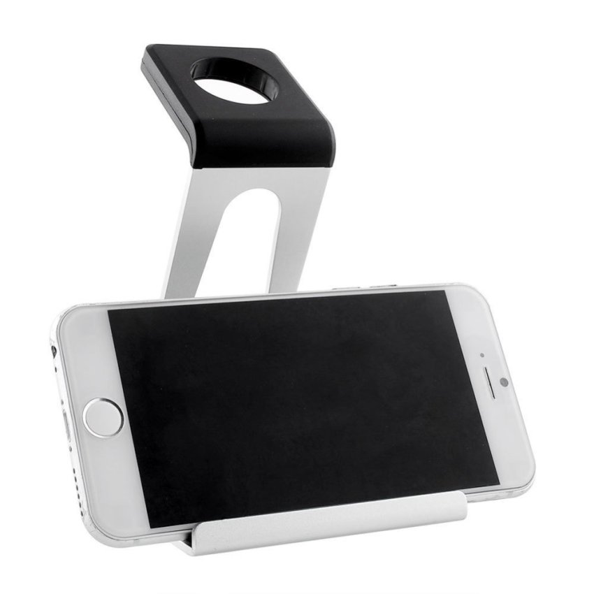 Popular Aluminum Phone Watch Stand Holder Docking for IWatch Smartphone (White) (Intl)