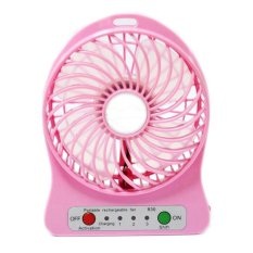 Portable Cooling Fan 18650 Battery - Pink