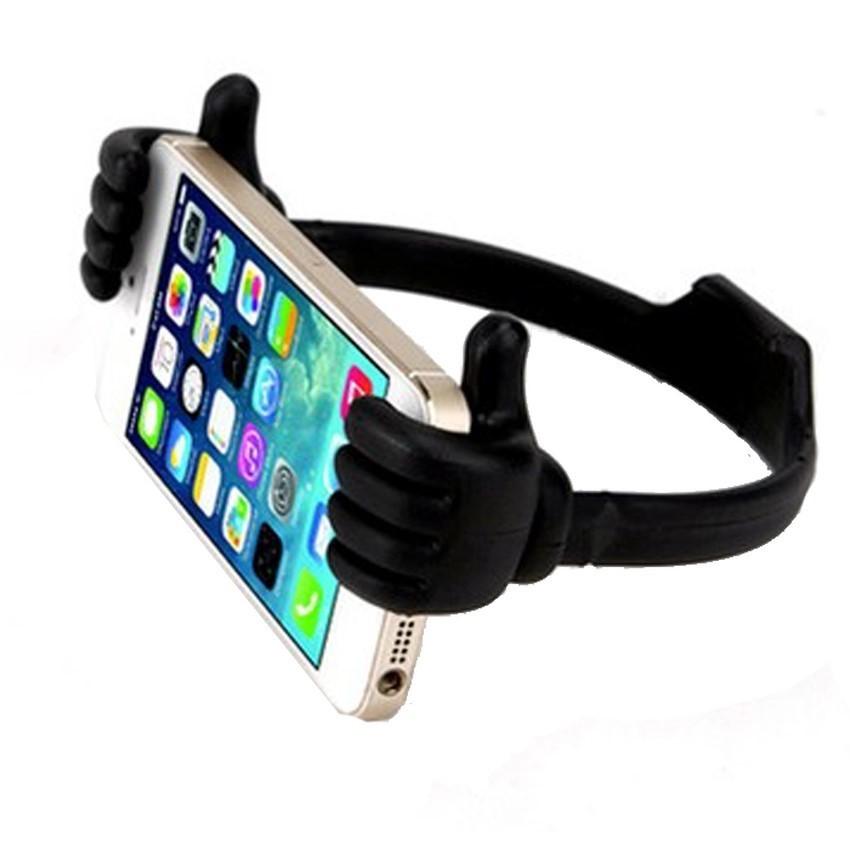 Portable Fashion Cute Thumbs Shape Stand Bracket Cradel Desktop Holder Mount for Phone/Tablet Black (Intl)
