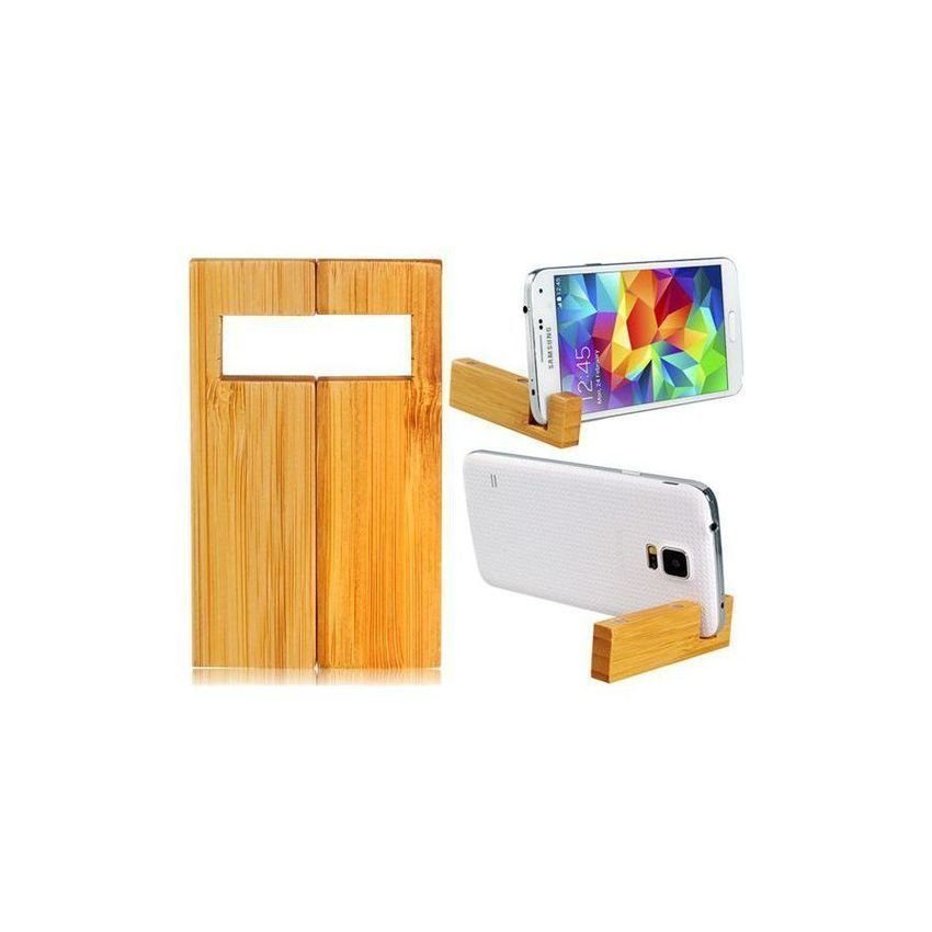 Portable Minimalist Wood Stand Holder for Cellphones and Tablet PCs