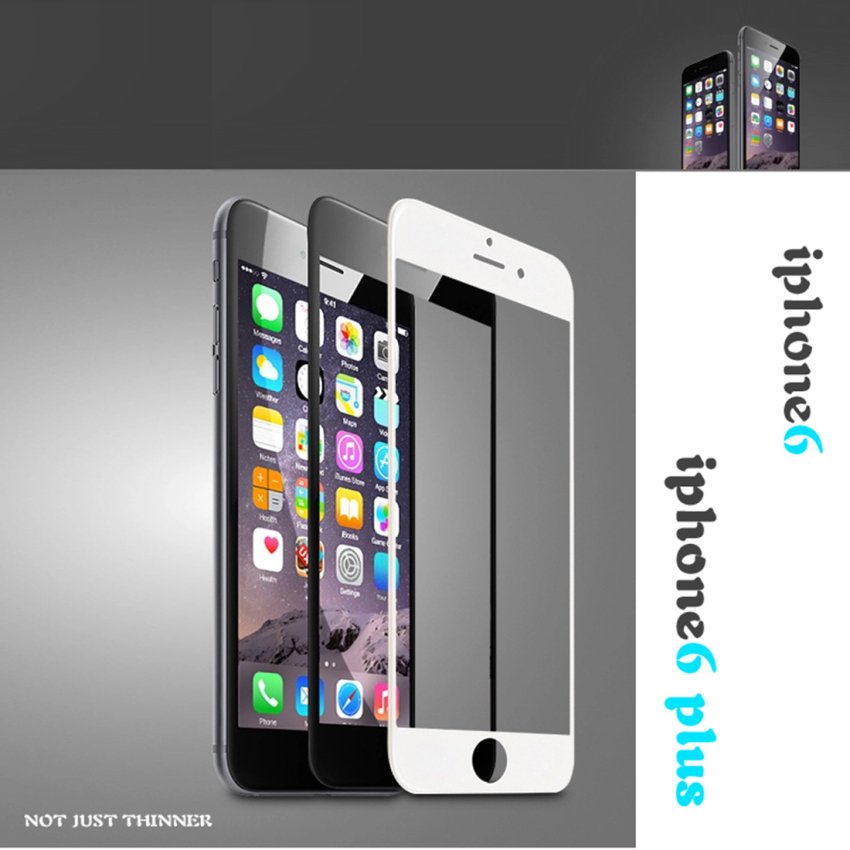 Premium Real Tempered Glass Screen Protector for iPhone 6 Black(Intl)