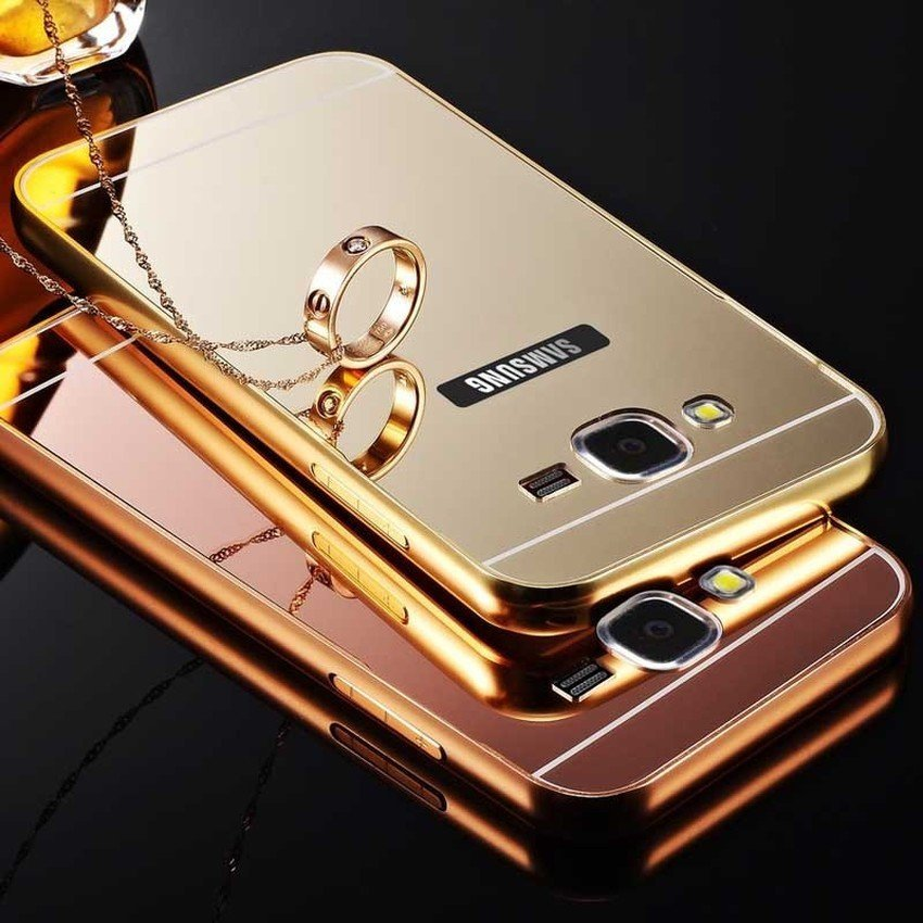 ProCase Case Aluminium Bumper Mirror Slide Case For Samsung Galaxy J5 - Emas + Gratis Tempered Glass