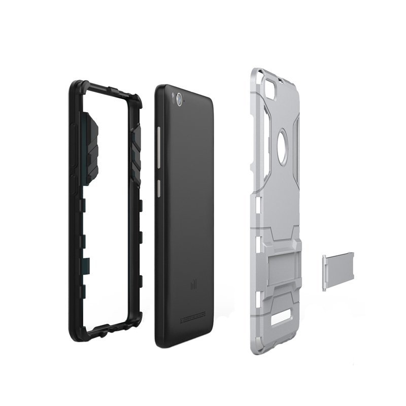 ProCase Xiaomi MI4C Shield Armor PC+TPU with Stand -Abu-Abu