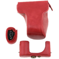Protective Detachable Red PU Leather Case Bag For Fuji XM1 Digital Camera