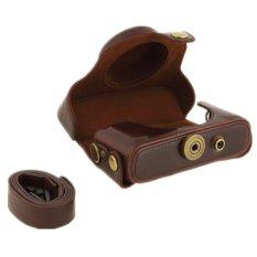 Protective PU Leather Case Bag For Pentax MX1 Digital Camera Detachable Coffee