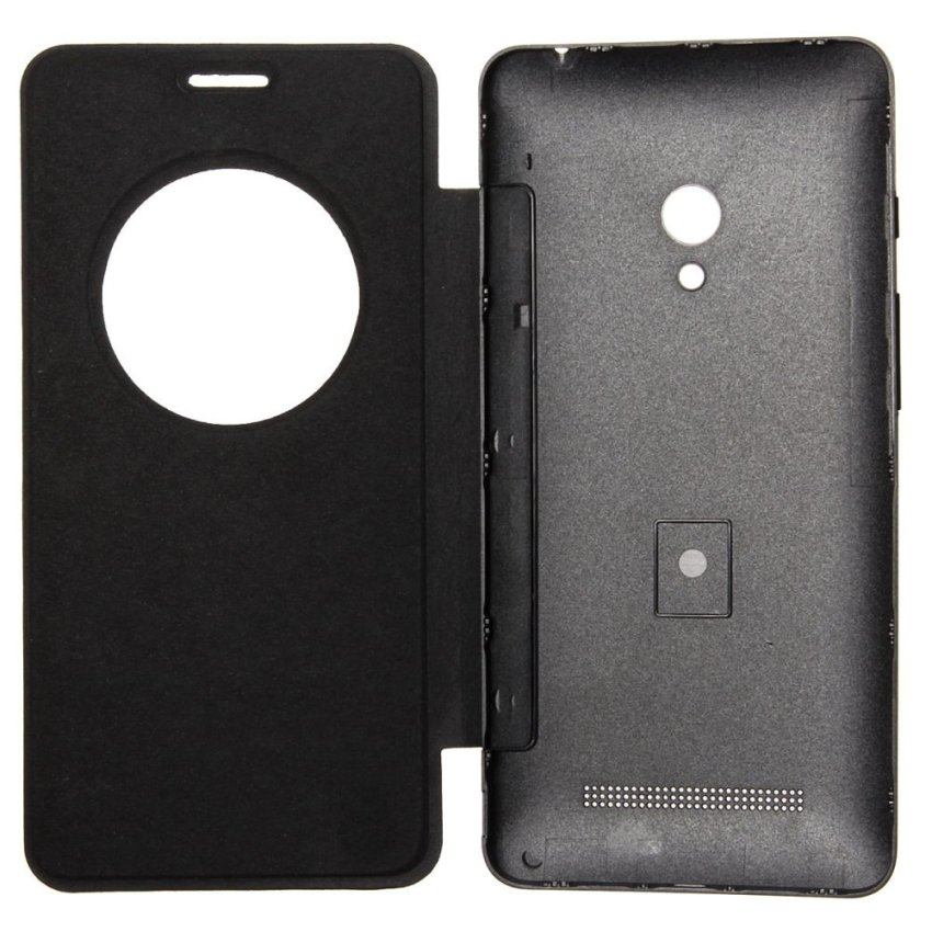 PU Flip Leather Cover for ASUS Zenfone 2/5/6 (Black) (Intl)