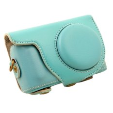 PU Leather Camera Case Bag For Samsung NX Mini Digital Camera 9mm Lens Blue