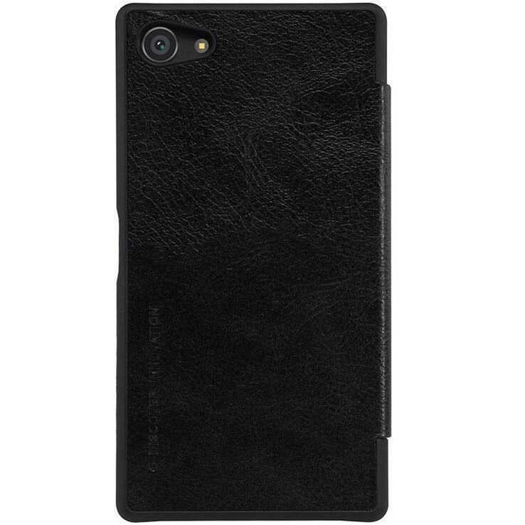 PU Leather Case for Sony Xperia Z5 Compact (Black) (Intl)