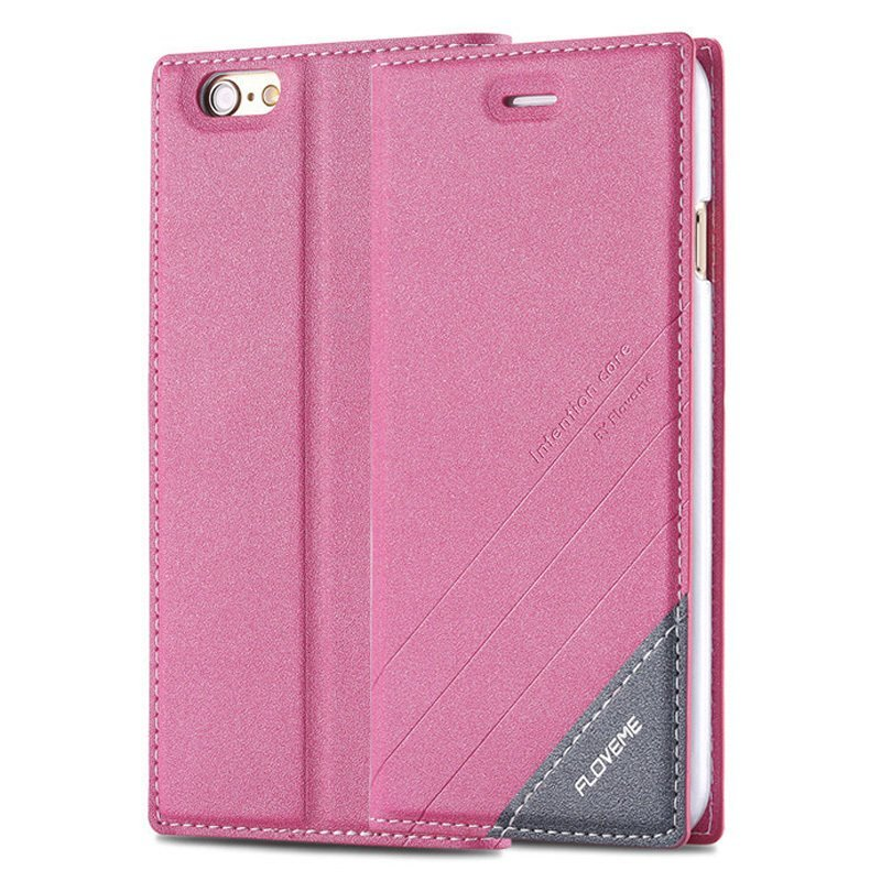 PU Leather Cover for iPhone 6 plus/6s pink (Intl)