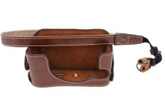 PU Leather Dslr Camera Bag Case Bag Bottom Case With Wrist Strap For Camera Sony RX1 RX1R (Coffee) - Intl