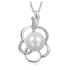 Pure 925 Sterling Silver Pendant With Pearl Shell (White) - Intl