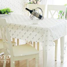 PVC Tablecloth Plastic Cover Dining Coffee Tea Table Waterproof Cloth 110 X 170CM Couple Flower Cream