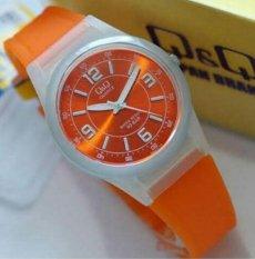 Q&Q Watch - Jam Tagan Wanita - Orange - Rubber Strap - VQ50J O