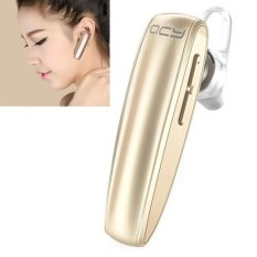 QCY Q13 Bluetooth 4.0 Stereo Music Multi Headset Handsfree Dual Standby Headphone For IPhone / Samsung / HTC / Huawei (Gold) - Intl