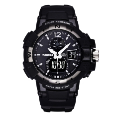 Qooyonq SKMEI New Authentic Men's Wristwatch With A Luminous Waterproof Watch Dual Movement Sports Watch