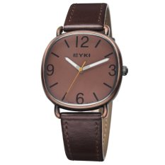 Quartz Watch Man Leather Belt Watches Men EYKI Japan's 2035 Movement Wristwatch Round Water Resistant