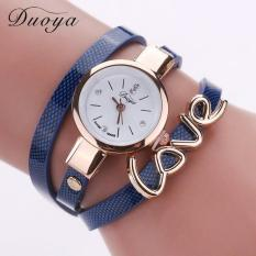 Quartz Watch Women Love Bracelet Wristwatch Fashion Casual Watches Women Style Blue Free Shipping