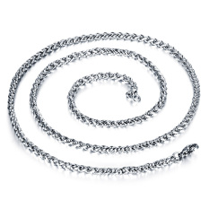 Queen Korea 316L Titanium Steel Women / Men / Unisex Necklace Jewelry Wholesale (Silver) &#8211.5 Mm X 550 Mm
