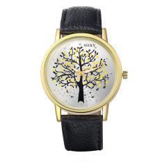 Queen Men Tree Pattern Quartz Wrist Watch (Black) - INTL