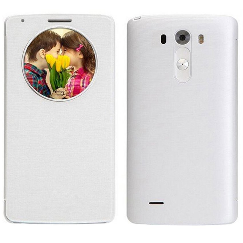 Quick Circle Case Cover With Qi Wireless Charging+Nfc For LG G3 D855 D850 White