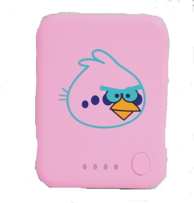 Quincy Label Power Bank Angry Bird-Pink