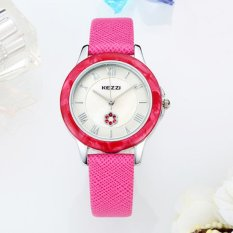 Quzhuo Lisa Violet Kezzi Ladies Watch Market Simple Leisure Table Circular Solid Shell Surface Waterproof Female Parent Students