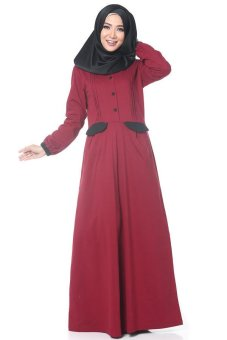 Rahnem Gamis 1323 Merah Lazada Indonesia