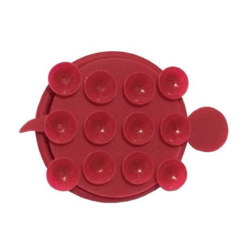 Random House ET Silicone Handphone Stand Earphone Wrap - Merah