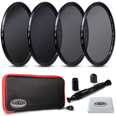 Rangers ND2 ND4 ND8 ND16 Filter Set 72mm Neutral Density Slim HD MRC RA2.4pcs