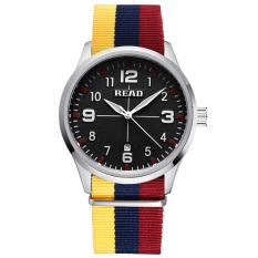 READ Fashion Clock Men Casual Top Quartz Luxury Watches Men Famous Brand Nylon Strap Male Wrist Watch Man Wristwatches - Intl
