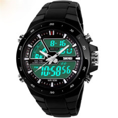 Readeel Men Sports Watches Waterproof Fashion Casual Quartz Watch Digital & Analog Military Multifunctional Men's Sports Watches (Black)