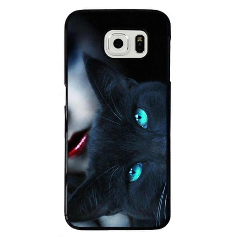 Red Lips And Cat Painting Phone Case for Samsung Galaxy S5 E5000 (Multicolor)