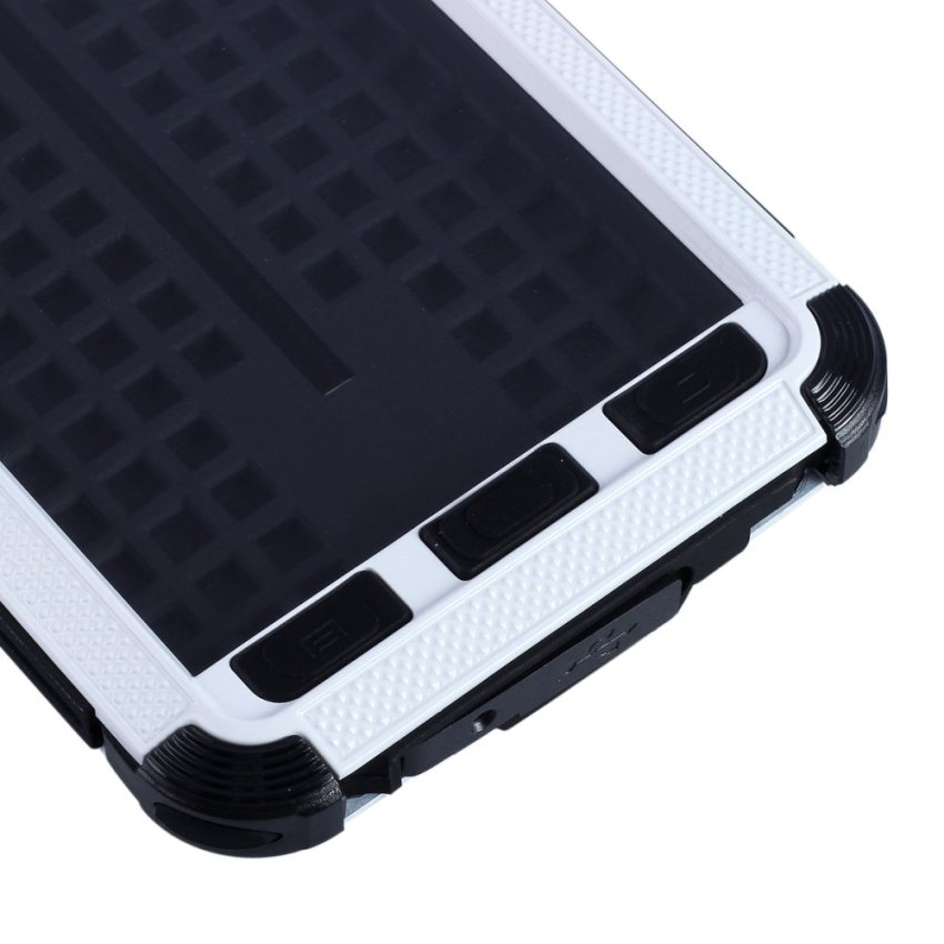 Redpepper Case Aluminum Alloy Corning Gorilla Glass Water Resistant Dirtproof Shockproof Case for Samsung Galaxy Note 3 - White (Intl)